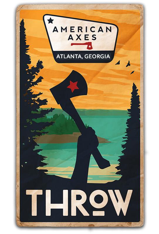 axe throw poster atlanta